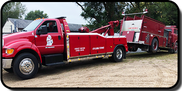 A-1 Towing and Recovery - Medium Duty Wrecker with Fire Truck - Grant, MI