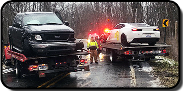 A-1 Towing and Recovery - Accident Two Flatbeds - Two Cars - Grant, MI